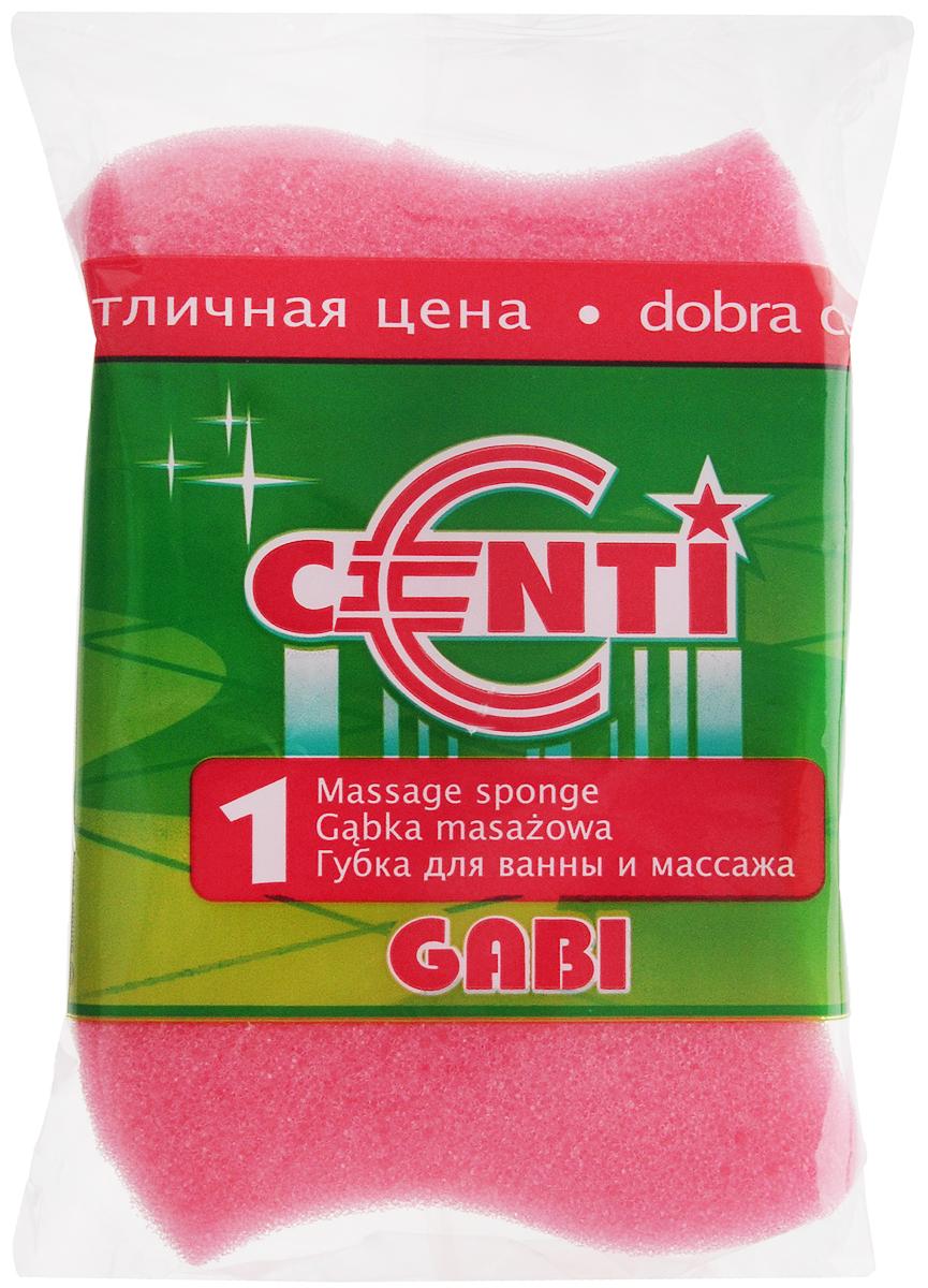 Губка для тела Centi Gabi, массажная, цвет: розовый, белый, 13,5 х 9,5 х 4,5 см40087_розовыйГубка для тела Centi Gabi изготовлена из мягкого экологически чистого полимера. Пористая структура губки создает воздушную пену даже при небольшом количестве геля для душа. Эффективно очищает и массирует кожу, улучшая кровообращение и повышая тонус.