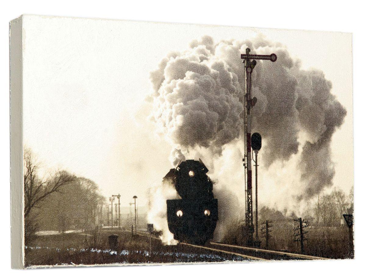 Картина Мчащийся поезд, 14,5 х 22 см0256-15-22