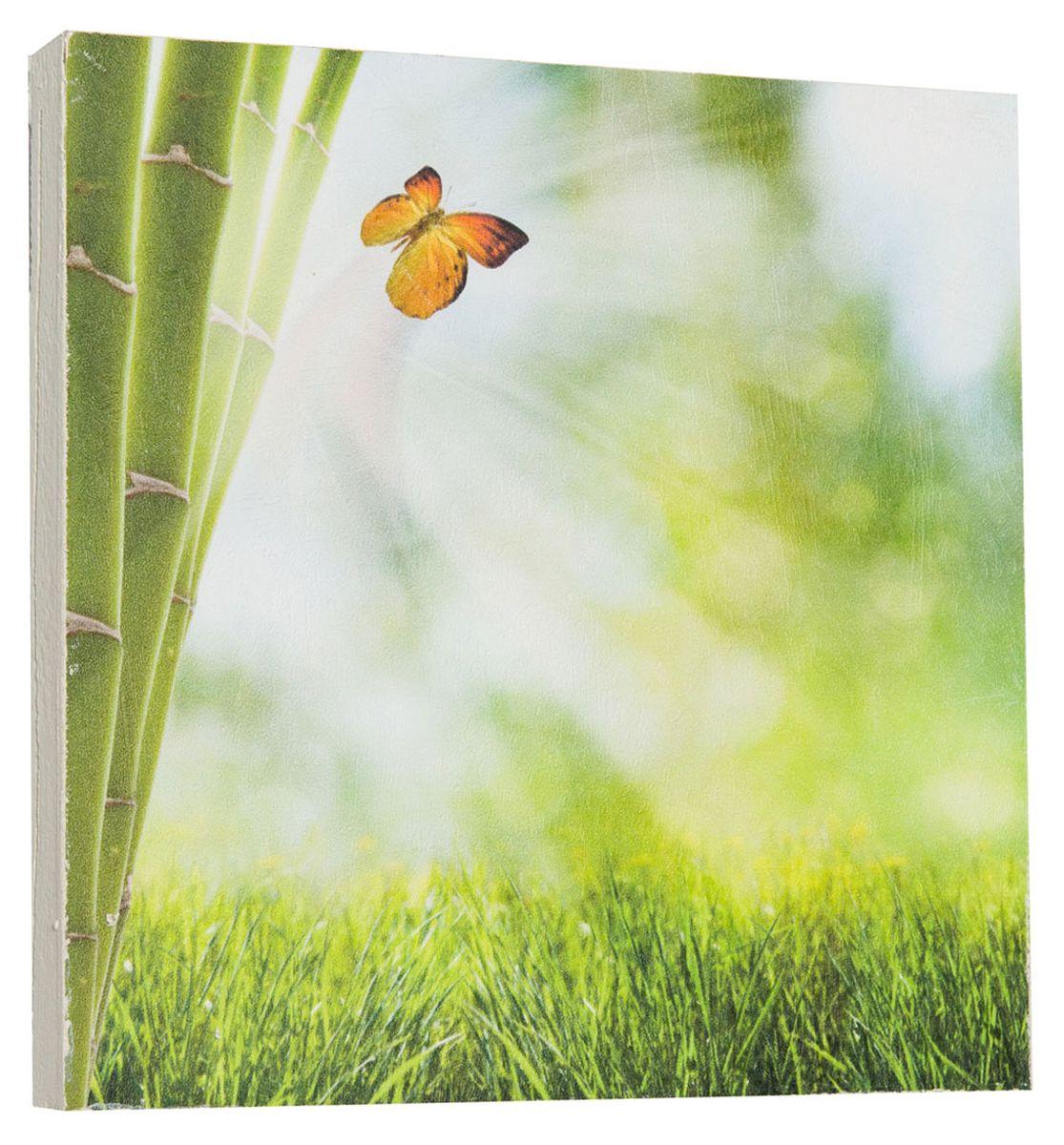 Картина Mister Poster Яркая бабочка на бамбуке, 22 х 22 см0266-22-22Картина Mister Poster - это высококачественная репродукция на деревянной раме. Лицевая поверхность имитирует штукатурку или натуральный холст, края окрашены вручную специальным декоративным составом. Современные технологии, уникальное оборудование и оригинальные чернила, используемые при изготовлении, делают постер устойчивым к выцветанию, а также гарантируют стойкость к воздействию негативных внешних факторов. Интерьер дома и офиса, в котором находится человек, в значительной степени влияет на его настроение и работоспособность. Правильное оформление интерьера создает благоприятный психологический климат, улучшает настроение и мотивирует. Добавьте «красок» в ваш интерьер и, возможно, в вашу жизнь.