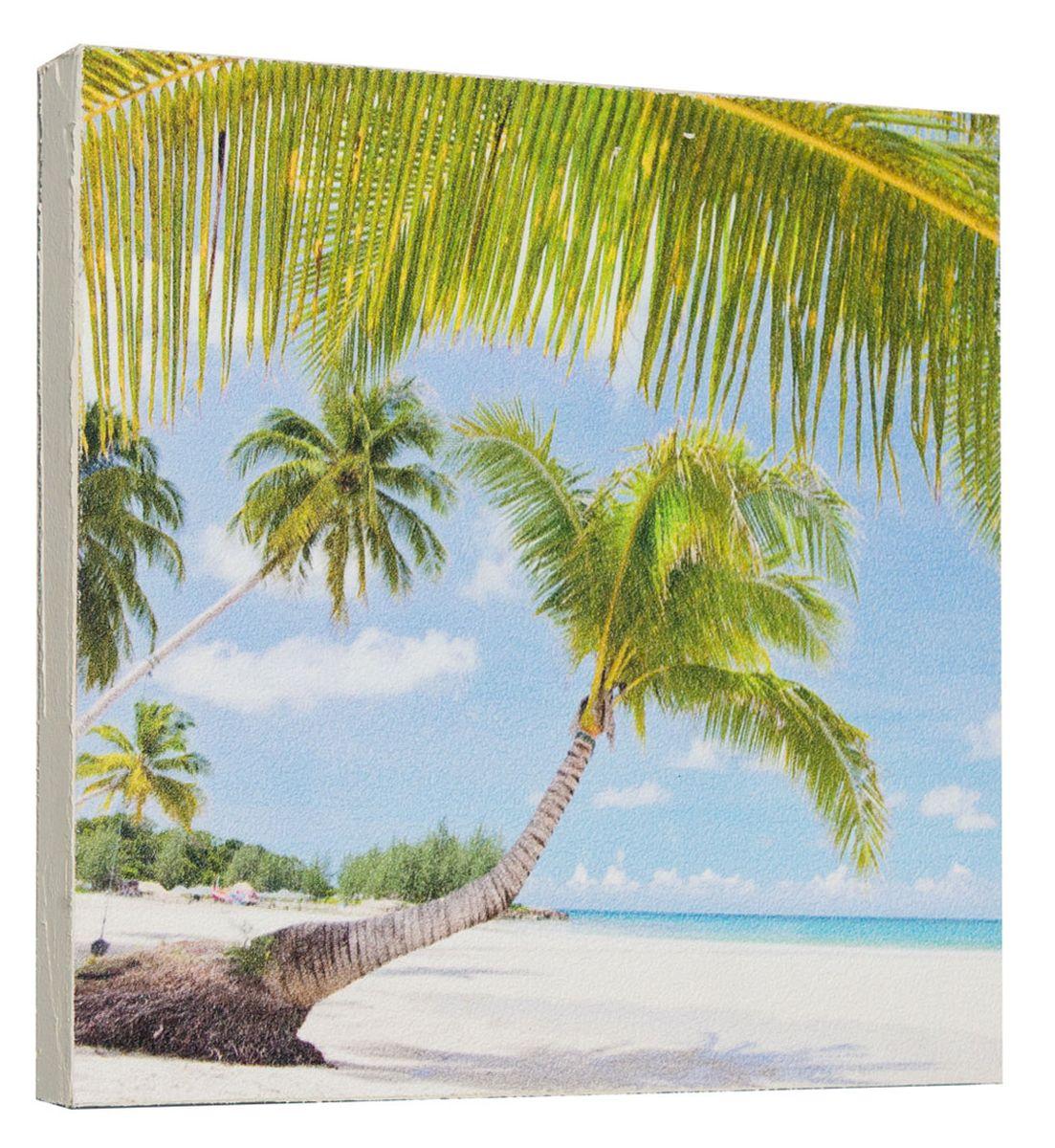 Картина Mister Poster Тропическая пальма, 22 х 22 см0297-22-22Картина Mister Poster - это высококачественная репродукция на деревянной раме. Лицевая поверхность имитирует штукатурку или натуральный холст, края окрашены вручную специальным декоративным составом. Современные технологии, уникальное оборудование и оригинальные чернила, используемые при изготовлении, делают постер устойчивым к выцветанию, а также гарантируют стойкость к воздействию негативных внешних факторов. Интерьер дома и офиса, в котором находится человек, в значительной степени влияет на его настроение и работоспособность. Правильное оформление интерьера создает благоприятный психологический климат, улучшает настроение и мотивирует. Добавьте «красок» в ваш интерьер и, возможно, в вашу жизнь.