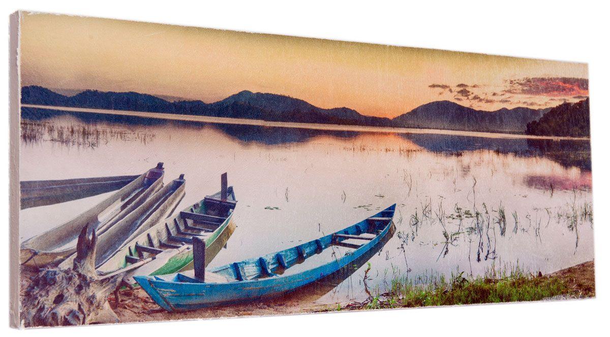 Картина Mister Poster Красивый речной пейзаж, 60 х 24 см0324-24-60Картина Mister Poster - это высококачественная репродукция на деревянной раме. Лицевая поверхность имитирует штукатурку или натуральный холст, края окрашены вручную специальным декоративным составом. Современные технологии, уникальное оборудование и оригинальные чернила, используемые при изготовлении, делают постер устойчивым к выцветанию, а также гарантируют стойкость к воздействию негативных внешних факторов. Интерьер дома и офиса, в котором находится человек, в значительной степени влияет на его настроение и работоспособность. Правильное оформление интерьера создает благоприятный психологический климат, улучшает настроение и мотивирует. Добавьте «красок» в ваш интерьер и, возможно, в вашу жизнь.
