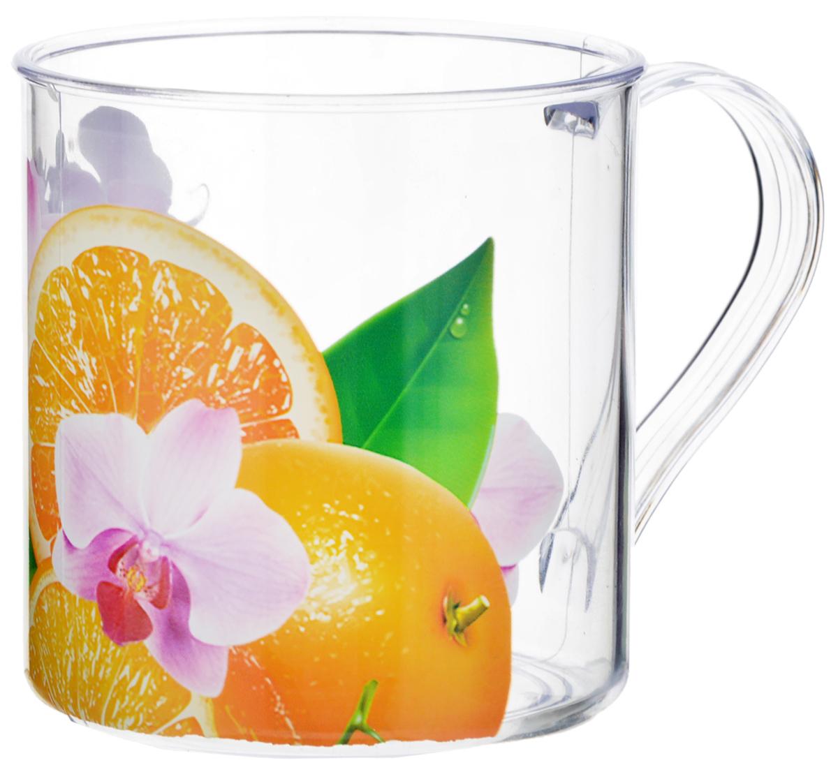 Кружка Альтернатива Экзотика, 300 млM928Кружка Альтернатива Экзотика, выполненная из пластика, украсит кухонный интерьер. Кружка предназначена только для холодных напитков. Кружка оформлена изображением апельсинов с листьями.