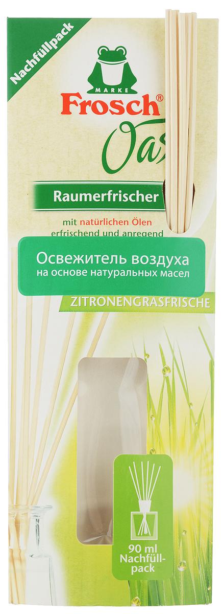Ароматизатор воздуха Frosch Лимонник, сменный блок, 90 мл1201689Ароматизатор воздуха Frosch Лимонник представляет собой чувственное вдохновение от природы в пластиковом пакете. Натуральный ненавязчивый аромат благотворно влияет на микроклимат в помещении, вызывает приятные воспоминания и пробуждает чувства. Аромат лимонника обладает успокаивающим эффектом и способствует расслаблению. Палочки изготовлены из натуральной древесины. Способ применения: отрежьте край пакета ножницами и перелейте в уже имеющийся стеклянный флакон, затем вставьте палочки. Чем больше деревянных палочек вы используете, тем интенсивней аромат в комнате. Товар сертифицирован.