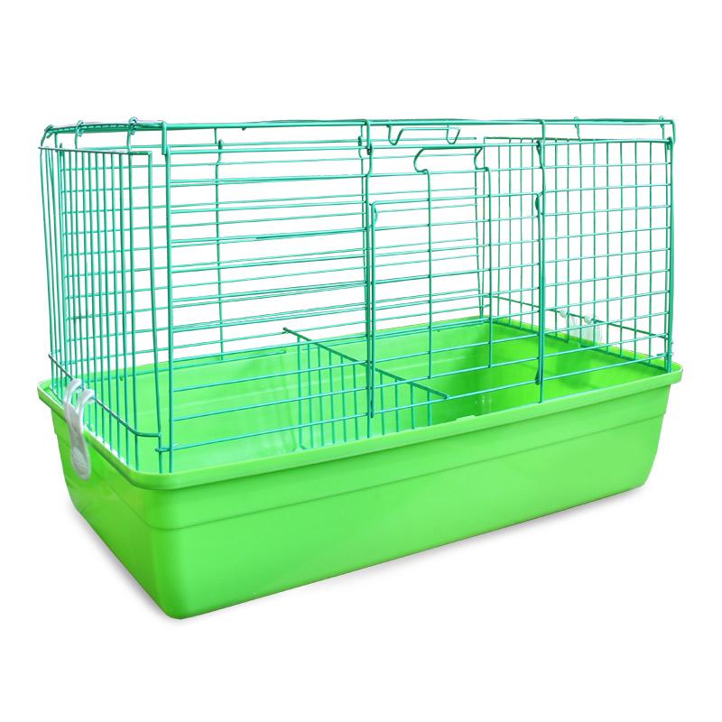 Клетка для кроликов Triol, цвет: салатовый, 59 см х 40 см х 36 смK-T1-1_салатовыйКлетка для кроликов Triol, выполненная из металла с эмалированным покрытием и пластика, предназначена для содержания вашего любимца. Клетка имеет прямоугольную форму, очень просторна, оснащена съемным поддоном. Она очень легко собирается и разбирается. Такая клетка станет для вашего питомца уютным домиком и надежным убежищем. Размер клетки: 59 см х 40 см х 36 см.