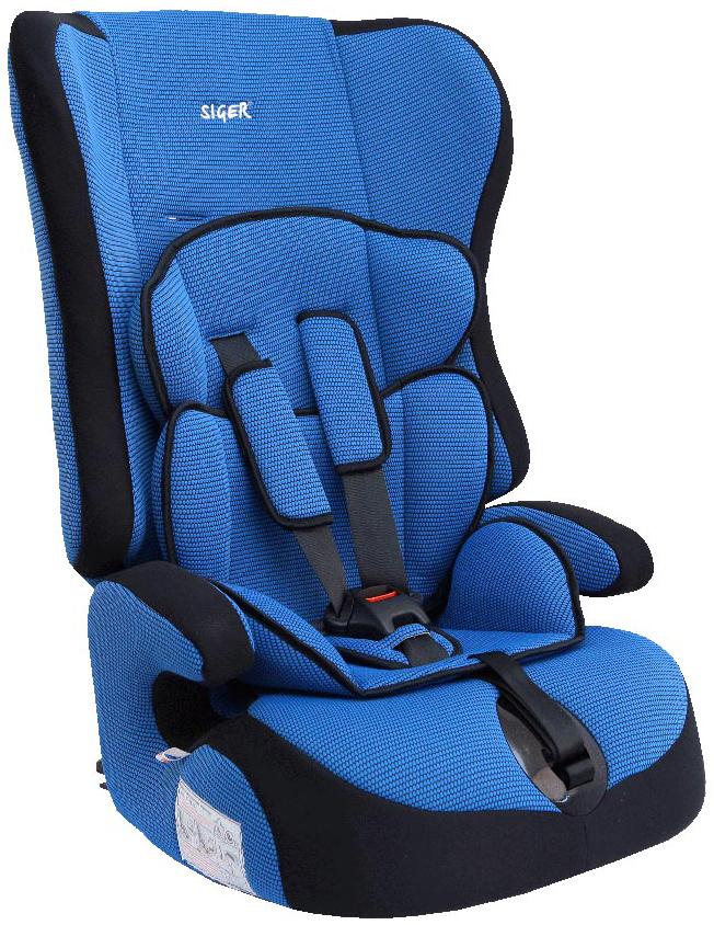 Siger Автокресло Прайм цвет синий от 9 до 36 кг98293777Детское автокресло Siger Прайм разработано для детей от 1 года до 12 лет, весом от 9 до 36 кг. Относится к возрастной группе 1/2/3.Отличительным свойством автокресла является его универсальность. При соответственном весе ребенка кресло может использоваться в течение 12 лет. Для удобства малышей от 1 до 4 лет автокресло оборудовано пятиточечным ремнем безопасности с регулировкой по глубине и высоте, мягким съемным вкладышем и мягкими накладками на ремни. Съемный чехол изготовлен из нетоксичного гипоаллергенного материала, который безопасен для малыша. Округлая форма сиденья не режет ножки ребенка и предохраняет их от затекания.Детские удерживающие устройства Siger разработаны и выполнены в России с учетом анатомии российских детей. Двухпозиционная регулировка центральной лямки позволяет адаптировать внутренние ремни под зимнюю и летнюю одежду ребенка.Автокресло успешно прошло все необходимые краш-тесты и имеет сертификат соответствия техническому регламенту РФ и таможенному союзу. В детском автомобильном кресле Siger ваш ребенок будет путешествовать в безопасности и с удовольствием!