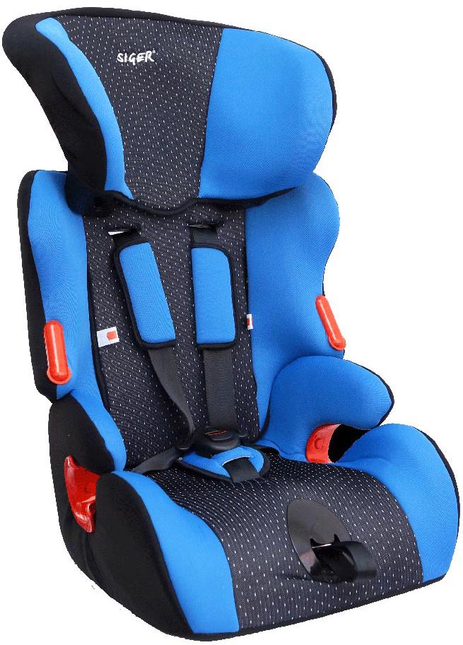 Siger Автокресло Космо цвет синий от 9 до 36 кгSC-FD421005Детское автокресло Siger Космо разработано для детей от 1 года до 12 лет, весом от 9 до 36 кг. Относится к возрастной группе 1/2/3.Автокресло имеет особую форму подголовника, которая надежно защищает ребенка от боковых ударов. Внутренние пятиточечные ремни регулируются по высоте в зависимости от роста ребенка и по глубине специально под зимнюю одежду. В зависимости от роста ребенка регулируется также подголовник кресла в шести положениях. Возможность регулировки наклона спинки обеспечивает лучшую адаптацию автокресла к сиденью автомобиля. Чехол изготовлен из качественного износостойкого и гипоаллергенного материала.В основе автокресла Космо - усиленный каркас сиденья. Специальные ярлычки показывают направление штатного ремня безопасности и обеспечивают правильное крепление кресла в автомобиле. Пластиковые накладки и направляющие штатного ремня гарантируют правильное прохождение ремня безопасности.Детские удерживающие устройства Siger разработаны и выполнены в России с учетом анатомии российских детей. Двухпозиционная регулировка центральной лямки позволяет адаптировать внутренние ремни под зимнюю и летнюю одежду ребенка.Автокресло успешно прошло все необходимые краш-тесты и имеет сертификат соответствия техническому регламенту РФ и таможенному союзу. В детском автомобильном кресле Siger ваш ребенок будет путешествовать в безопасности и с удовольствием!