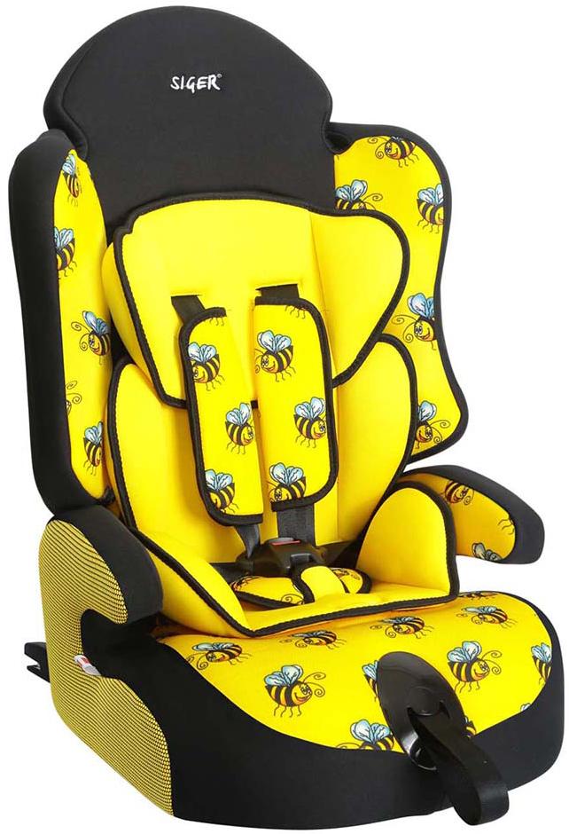 Siger Art Автокресло Прайм IsoFix Пчелка от 9 до 36 кгKRES0151Детское автокресло Siger Прайм IsoFix. Пчелка разработано для детей от 1 года до 12 лет, весом от 9 до 36 кг. Относится к возрастной группе 1/2/3. Отличительным свойством автокресла является простота и надежность крепления его к автомобилю. Это достигается благодаря системе крепления Isofix. Для удобства малышей от 1 до 4 лет автокресло оборудовано пятиточечным ремнем безопасности с регулировкой по глубине и высоте, мягким съемным вкладышем и мягкими накладками на ремни. Съемный чехол изготовлен из нетоксичного гипоаллергенного материала, который безопасен для малыша. Округлая форма сиденья не режет ножки ребенка и предохраняет их от затекания. Особая форма спинки надежно защищает от боковых ударов. Детские удерживающие устройства Siger разработаны и выполнены в России с учетом анатомии российских детей. Автокресло успешно прошло все необходимые краш-тесты и имеет сертификат соответствия техническому регламенту РФ и таможенному союзу. В детском автомобильном кресле...