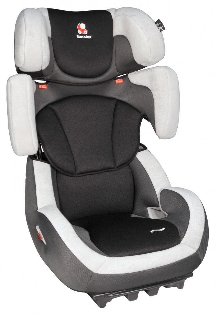 Renolux Автокресло Step 23 цвет черный серыйSM/DK-400 KroshАвтокресло Renolux Step 23 группа 2/3 предназначено для перевозки детей от 15 до 36 килограмм (примерно с 3,5 лет, ростом от 95 см, до 12 лет). Супер-адаптируемое детское автокресло, которое растёт вместе с вашим ребёнком. Просто потяните за ручку с обратной стороны подголовника и кресло увеличится в высоту и в ширину. Широкое и удобное, в нем ребёнку будет комфортно даже в длительных поездках. Кресло имеет два положения наклона спинки для более удобного расположения в машине. Высота и ширина кресла под рост ребёнка регулируется одним движением, вместе с привязными ремнями. Усиленная боковая защита. Небольшой вес автокресла (около 7 кг) позволяет легко перенести автокресло из автомобиля в автомобиль или домой. Чехол автокресла съёмный, сделан из высококачественных материалов. Его можно легко снять и постирать при необходимости.Выбирая кресло Renolux, вы можете быть уверены, что оно спроектировано и произведено во Франции. Все кресла соответствуют самым жестким действующим на сегодняшний день в ЕС правилам ECE R44.04.CтандартыRenolux выше, чем установленные действующим европейским законодательством.