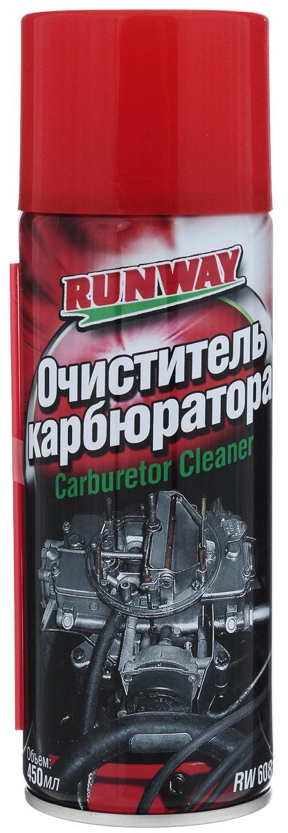 Очиститель карбюратора Runway, 450 млRW6081Очиститель карбюратора Runway предназначен для быстрой и качественной очистки от нагара, углеродистых отложений и грязи систем и деталей карбюратора - системы холостого хода, каналов карбюратора, дроссельных заслонок, воздушных и топливных жиклеров, впускных клапанов и днищ поршней. Нормализует впрыск топлива без разборки карбюратора. Позволяет отрегулировать карбюратор для достижения минимального расхода бензина и снижения токсичности выхлопа. Рекомендуется производить чистку каждые 3000 км или по мере необходимости. Очиститель адаптирован для чистки карбюраторов российского производства. Безопасен для кислородных датчиков и каталитических нейтрализаторов. Товар сертифицирован.
