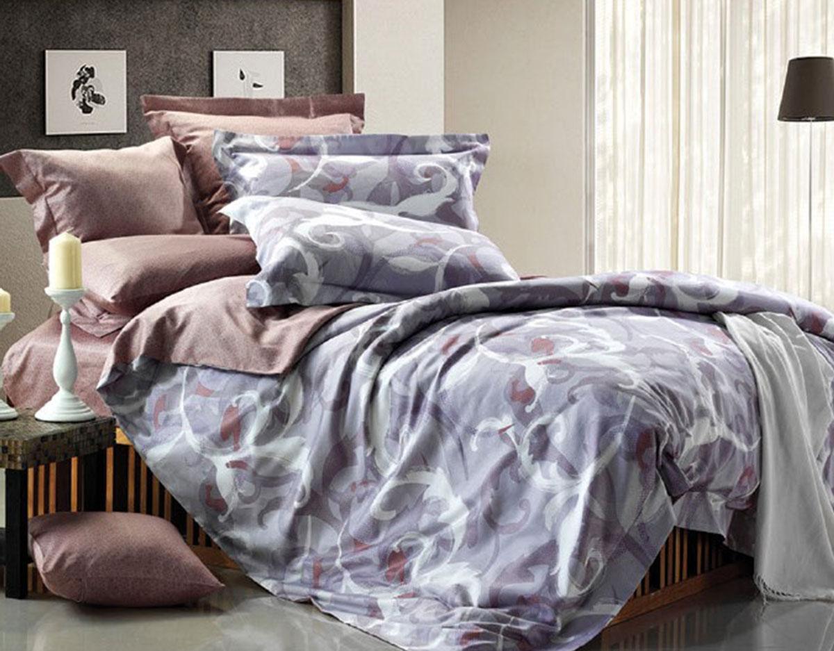 Комплект белья Seta Serenty, евро, наволочки 50x70, цвет: светло-коричневый016533102