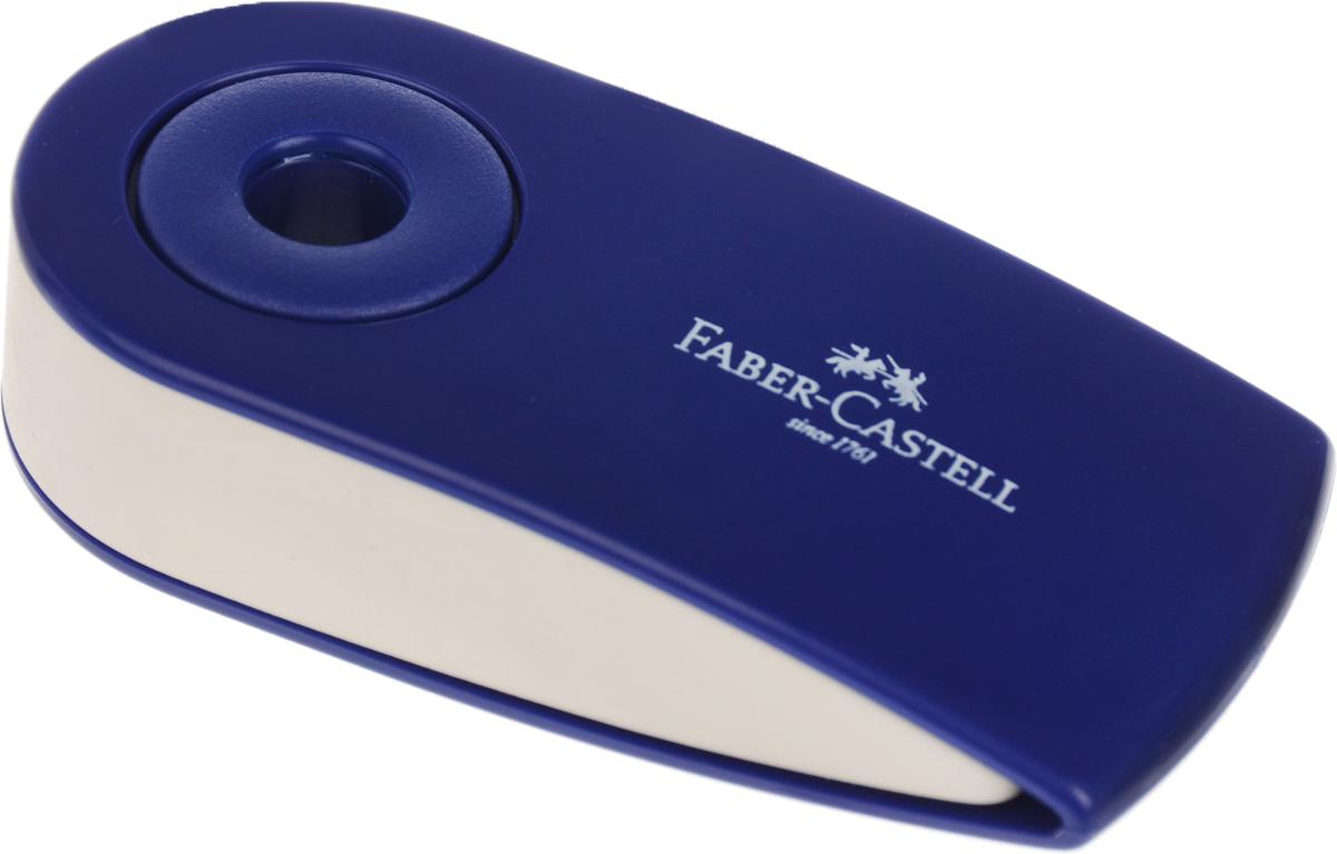 Faber-Castell Ластик Sleeve цвет синий 182401044110_приведенияЛастик Faber-Castell Sleeve станет незаменимым аксессуаром на рабочем столе не только школьника или студента, но и офисного работника. Аккуратный ластик не оставляет грязных разводов. Кроме того, высококачественный ластик не повреждает бумагу даже при многократном стирании. Специальный подвижный колпачок защищает ластик от загрязнения.Не содержит ПВХ.