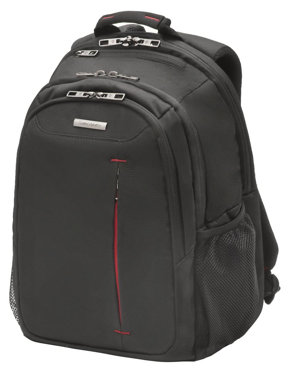 Рюкзак для ноутбука Samsonite, цвет: черный, 18 л, 29,5 х 19 х 43 см88U*09004Коллекция GUARDIT является идеальным решением для пользователей ноутбуков,объединяет в себе базовую функциональность с отличным внешним видом из полиэстера.Особенности коллекции: передний караман с внутренней организацией,умный карман, верхняя ручка с прокладкой из неопрена.