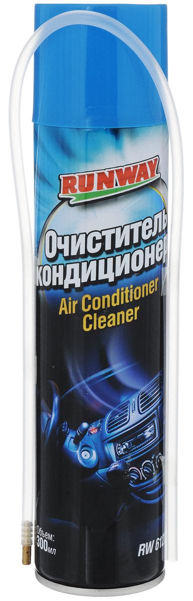Очиститель кондиционера Runway, 300 млRW6122Профессиональный состав очистителя Runway с применением передовых технологий для дезинфекции системы кондиционирования воздуха автомобиля. Эффективно, быстро и без разборки удалит вредные микроорганизмы (грибки, плесень, бактерии, споры) и запах в испарителе и воздушных каналах кондиционера. Предотвращает появления вредных для человека микроорганизмов и запаха. Восстанавливает производительность кондиционера, позволяет экономить мощность, продлевает срок службы кондиционера. Имеет приятный запах. Продукт безопасен для человека и животных. Может использоваться в бытовых системах кондиционирования воздуха. Товар сертифицирован.