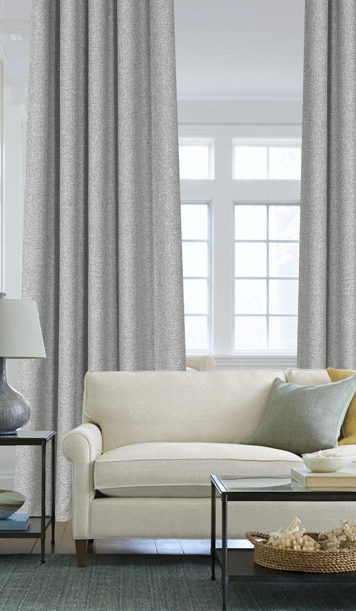 Штора Garden, на ленте, цвет: серый, высота 260 см. С 536049 V3S03301004Garden – это универсальная и интересная серия домашних штор для яркого и стильного оформления окон и создания особенной уютной атмосферы. Эта штора великолепно смотрится как одна, так и в паре, в комбинации с нежной тюлевой занавеской, собранная на подхваты и свободно ниспадающая естественными складками. Такая штора, изготовленная полностью из прочного и очень практичного полиэстерового полотна, долговечна и не боится стирок, не сминается, не теряет своего блеска и яркости красок.