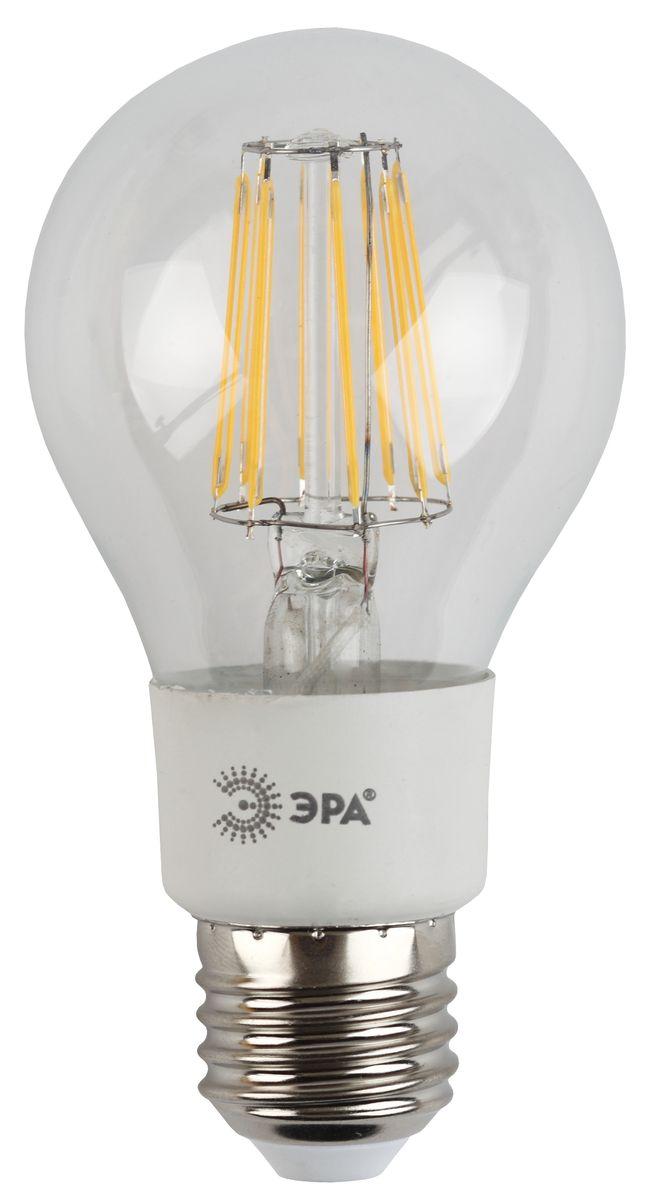 Лампа светодиодная ЭРА F-LED, цоколь E27, 170-265V, 5W, 2700К. A60-5w-827-E275055398686119Светодиодная лампа ЭРА F-LED является самым перспективным источником света. Основным преимуществом данного источника света является длительный срок службы и очень низкое энергопотребление, так, например, по сравнению с обычной лампой накаливания светодиодная лампа служит в среднем в 50 раз дольше и потребляет в 10-15 раз меньше электроэнергии. При этом светодиодная лампа практически не подвержена механическому воздействию из-за прочной конструкции и позволяет получить любой цвет светового потока, что, несомненно, расширяет возможности применения и позволяет создавать новые решения в области освещения. Максимально похожа на лампу накаливания, может использоваться в дизайнерских интерьерах. Угол рассеивания светового потока 360 градусов.