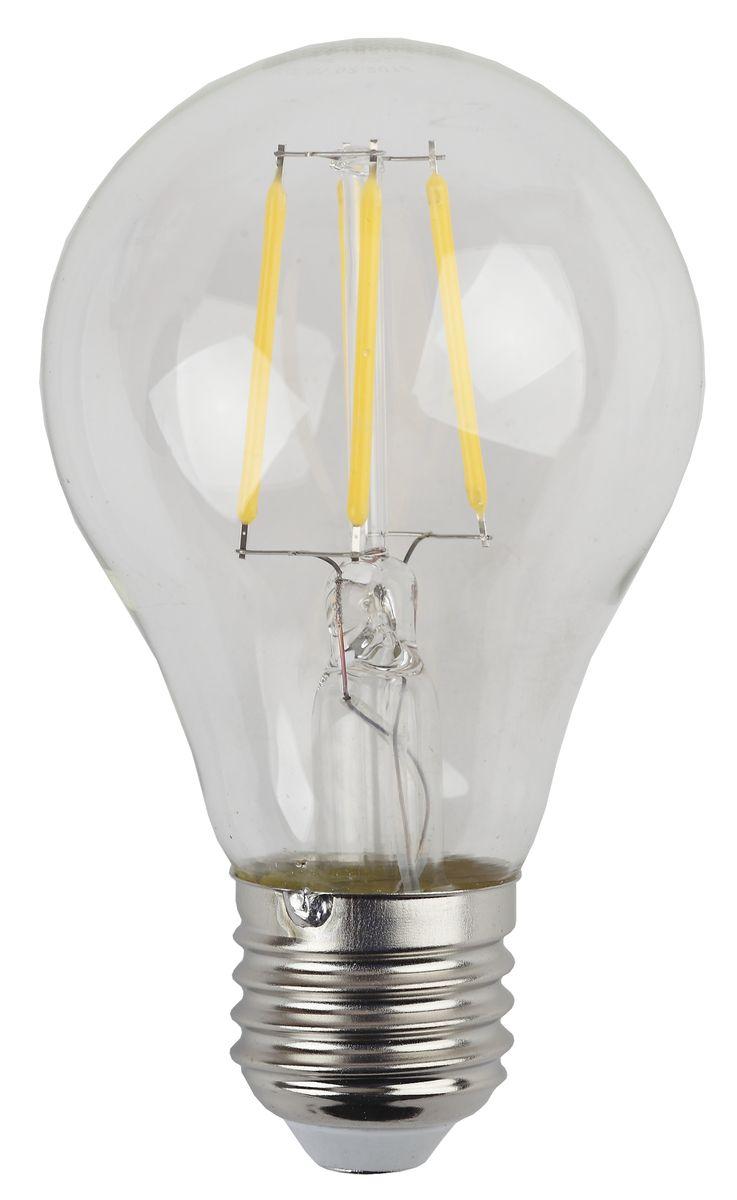 Лампа светодиодная ЭРА F-LED, цоколь E27, 170-265V, 5W, 4000К5055945528985Светодиодная лампа ЭРА F-LED является самым перспективным источником света. Основным преимуществом данного источника света является длительный срок службы и очень низкое энергопотребление, так, например, по сравнению с обычной лампой накаливания светодиодная лампа служит в среднем в 50 раз дольше и потребляет в 10-15 раз меньше электроэнергии. При этом светодиодная лампа практически не подвержена механическому воздействию из-за прочной конструкции и позволяет получить любой цвет светового потока, что, несомненно, расширяет возможности применения и позволяет создавать новые решения в области освещения. Максимально похожа на лампу накаливания, может использоваться в дизайнерских интерьерах. Угол рассеивания светового потока 360 градусов.