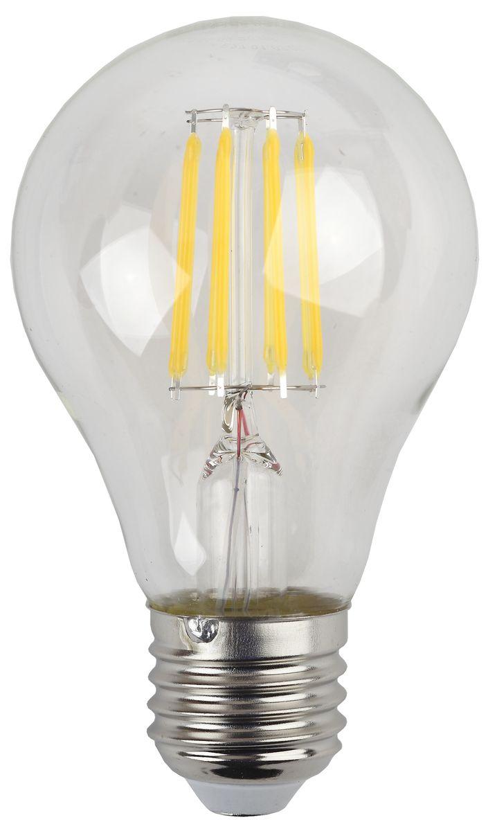 Лампа светодиодная ЭРА F-LED, цоколь E27, 170-265V, 9W, 4000К5055945529029Светодиодная лампа ЭРА F-LED является самым перспективным источником света. Основным преимуществом данного источника света является длительный срок службы и очень низкое энергопотребление, так, например, по сравнению с обычной лампой накаливания светодиодная лампа служит в среднем в 50 раз дольше и потребляет в 10-15 раз меньше электроэнергии. При этом светодиодная лампа практически не подвержена механическому воздействию из-за прочной конструкции и позволяет получить любой цвет светового потока, что, несомненно, расширяет возможности применения и позволяет создавать новые решения в области освещения. Максимально похожа на лампу накаливания, может использоваться в дизайнерских интерьерах. Угол рассеивания светового потока 360 градусов.