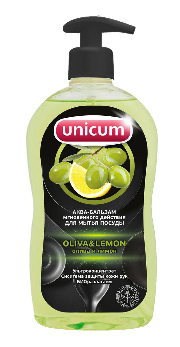 Средство для мытья посуды Unicum, олива и лимон, 550 мл305099Средство для мытья посуды Unicum - высококонцентрированное современное средство с натуральными фруктовыми кислотами для ручного мытья всех видов посуды и изделий из водостойких материалов. Средство легко удаляет остатки жиров, соусов, кремов, жировые загрязнения, устраняет неприятные запахи, следы накипи и ржавчины, присохших частиц пищи, в то же время бережно относится к коже рук. Благодаря наличию активных наночастиц, средство подходит для мытья всех видов посуды, изделий из водостойких материалов, фруктов и овощей. Содержит природные консерванты.
