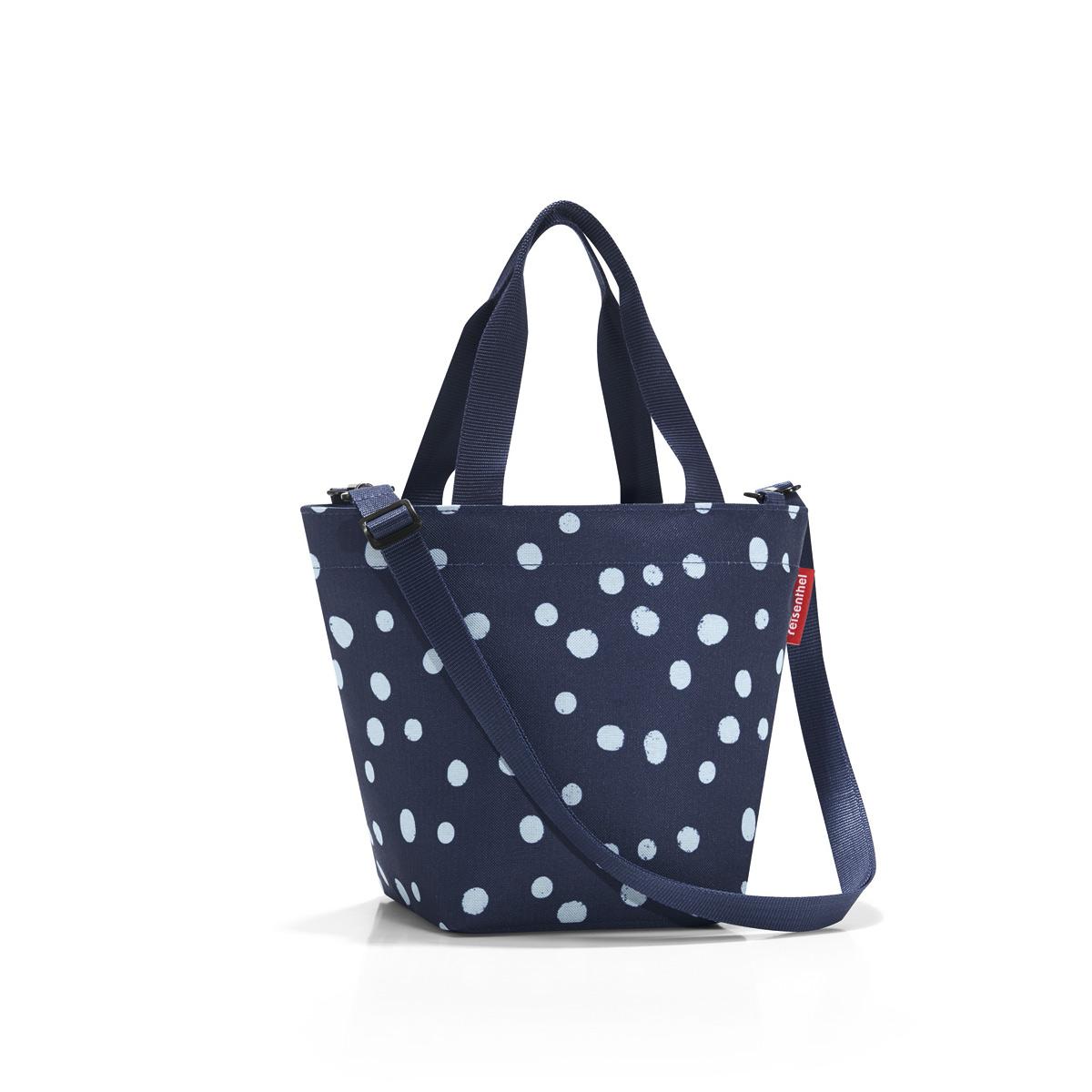 Сумка-шоппер женская Reisenthel Shopper XS spots navy, цвет: синий. ZR4044ZR4044Симпатичная сумка для повседневного использования: широкие удобные лямки для переноски в руках и удобный плечевой ремешок с регулируемой длиной, который можно отстегнуть.Объем 4 литра позволяет вместить все необходимые мелочи. Застегивается на молнию. Внутри - кармашек на молнии.