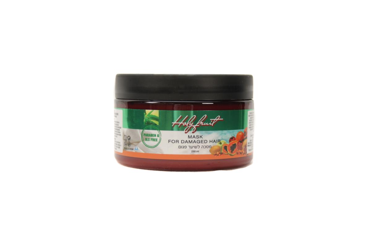 Holy Fruit Маска Маска для поврежденных волос (аргана-алоэ вера) Mask fordamaged hair, 250 мл7290008564601Маска быстро и эффективно оживит ослабленные волосы благодаря значительному содержанию органических кислот. Экстракты календулы и крапивы, масло арганы, облепихи, подсолнечника питают кожу, улучшают кровообращение. Растительные восковые эфиры масла жожоба, ценнейшие свойства масла зерен граната реставрируют структуру волос, предохраняют от потери влаги, делают их гладкими и сияющими. Соли Мертвого моря восстанавливают и укрепляют структуру волос, гиалуроновая кислота интенсивно увлажняет кожу головы, нормализует обменные процессы.