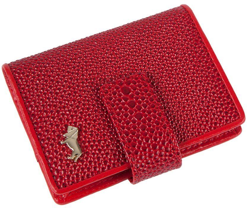 Визитница Labbra L048-0005 redINT-06501Визитница торговый марки LABBRA из натуральной кожи. Модель вмещает 24 визитных карточки, имеется потайной кармашек. Закрывается на кнопку. плотная кожа с тиснением