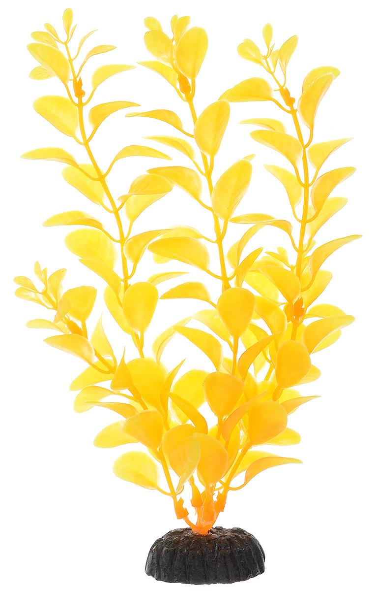 Растение для аквариума Barbus Людвигия, пластиковое, цвет: желто-оранжевый, высота 20 см0120710Растение для аквариума Barbus Людвигия, выполненное из качественного пластика, станет оригинальным украшением вашего аквариума. Пластиковое растение идеально подходит для дизайна всех видов аквариумов. Оно абсолютно безопасно, не токсично, нейтрально к водному балансу, устойчиво к истиранию краски, подходит как для пресноводного, так и для морского аквариума. Растение для аквариума Barbus Людвигия поможет вам смоделировать потрясающий пейзаж на дне вашего аквариума или террариума. Высота растения: 20 см.