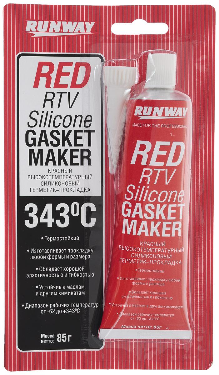 Силиконовый герметик-прокладка Runway, высокотемпературный, цвет: красный, 85 гRW8500Высокотемпературный маслобензостойкий силиконовый герметик-прокладка Runway разработан для быстрого и надежного формирования прокладок в двигателях. Отлично подходит для прокладок впускного и выпускного коллекторов, корпуса термостата, поддона картера, крышки картера коробки передач. Герметик устойчив к перепадам температуры, вибрации и к воздействию автомобильных и прочих производственных жидкостей, не подвергается коррозии. Позволяет изготовить прокладку любой формы и размера, обладает хорошей эластичностью и гибкостью. Не имеет неприятного запаха, создан на нейтральной основе. Диапазон рабочих температур от -62 до +343°С. Безопасен для катализаторов и электронных сенсоров.