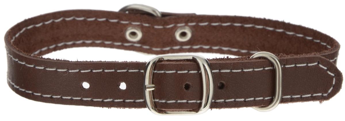 Ошейник для собак Каскад Классика, двойной, цвет: темно-коричневый, ширина 1,2 см, обхват шеи 20-24 см00012005кОшейник для собак Каскад Классика, изготовлен из натуральной кожи. Он устойчив к влажности и перепадам температур. Клеевой слой, сверхпрочные нити, крепкие металлические элементы делают ошейник надежным и долговечным. Изделие отличается высоким качеством, удобством и универсальностью. Размер ошейника регулируется при помощи пряжки, зафиксированной на одном из 4 отверстий. Минимальный обхват шеи: 20 см. Максимальный обхват шеи: 24 см. Ширина ошейника: 1,2 см.
