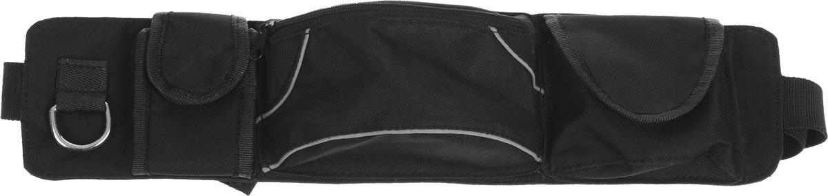 Сумка дрессировщика Каскад Компакт, 48 х 12 х 6 см19000505Сумка Каскад Компакт используется дрессировщиками для переноски различных аксессуаров. Изделие выполнено из прочного текстиля. Сумка оснащена 1 вместительным отделением, закрывающимся на застежку-молнию. По бокам имеется кольцо и 2 небольших кармана, закрывающихся на липучку. Сумка закрепляется на поясе при помощи ремня на защелке.