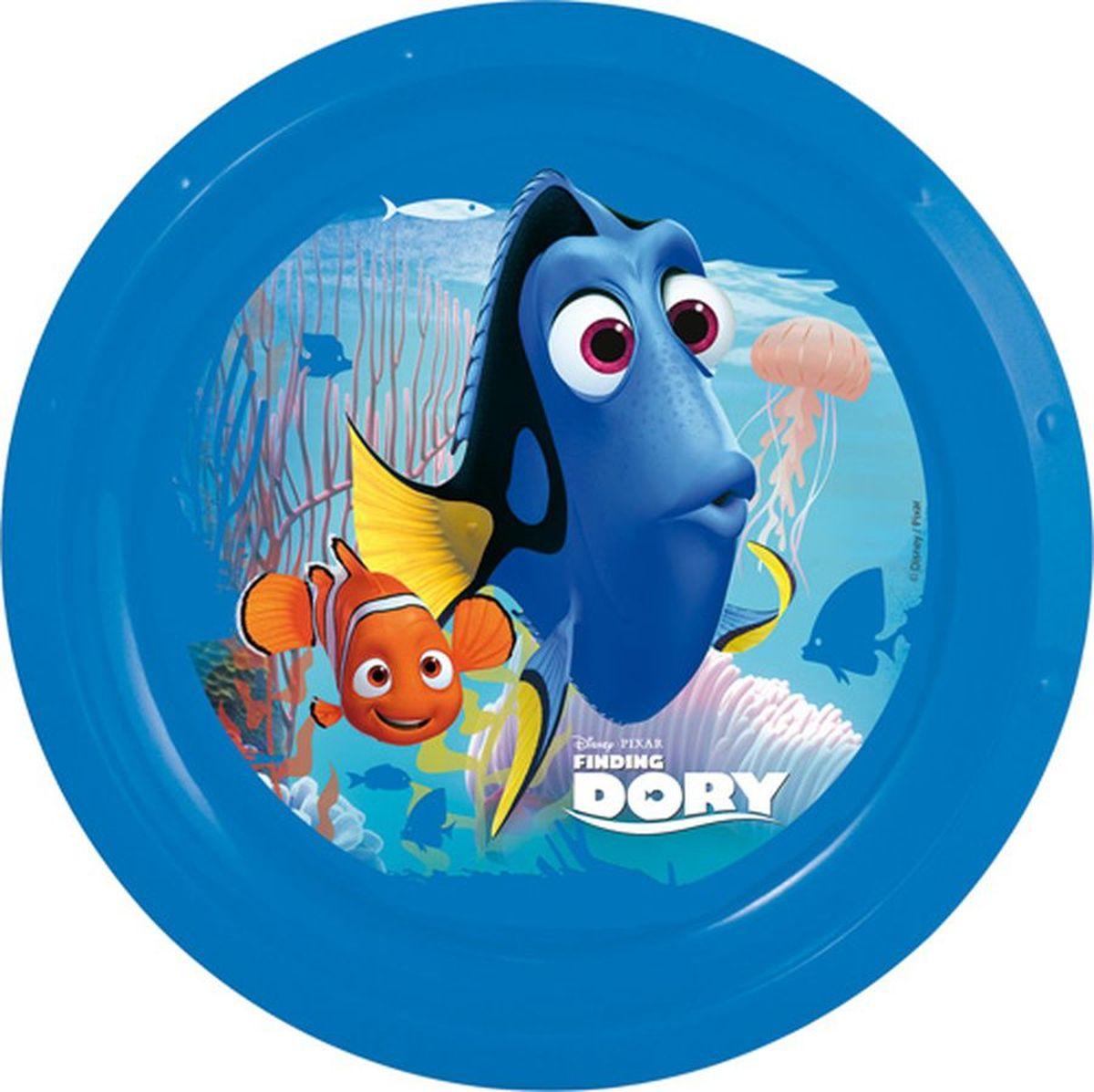 Disney Тарелка В поисках Дори диаметр 21,5 см84512Яркая тарелка Disney превратит процесс кормления вашего малыша в веселую игру. Дно оформлено изображением героев любимого мультфильма. Ваш ребенок будет кушать с большим удовольствием, стараясь быстрее добраться до картинки.