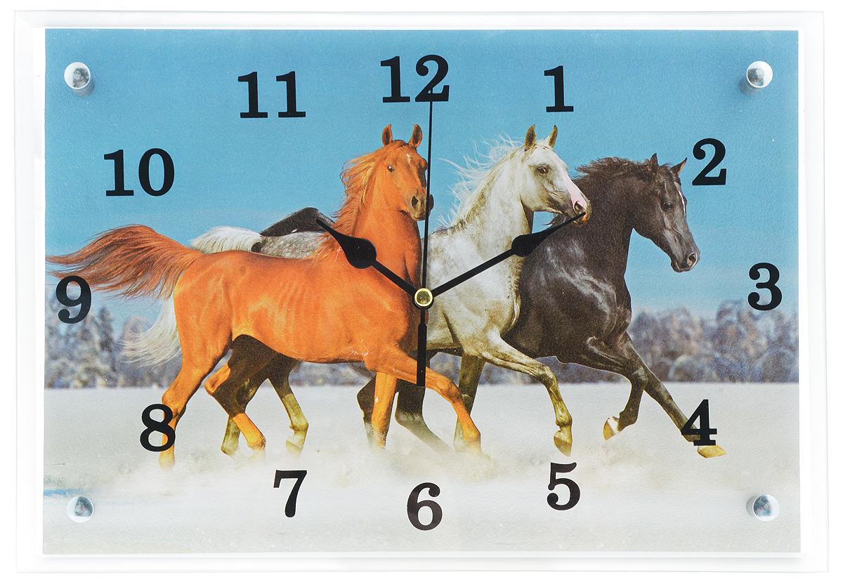 Часы настенные Proffi Home Тройка, 25 х 35 смВ1420Настенные кварцевые часы Proffi Home Тройка, изготовленные из ДВП и стекла, прекрасно подойдут под интерьер вашего дома. Прямоугольные часы имеют три стрелки: часовую, минутную и секундную. Часы оснащены металлической петелькой для подвешивания. Часы работают от 1 батарейки типа АА напряжением 1,5 В (не входит в комплект). Размер часов: 25 х 35 х 3,5 см.