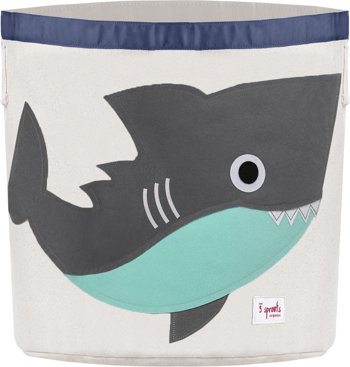 3 Sprouts Корзина для хранения Серая акула