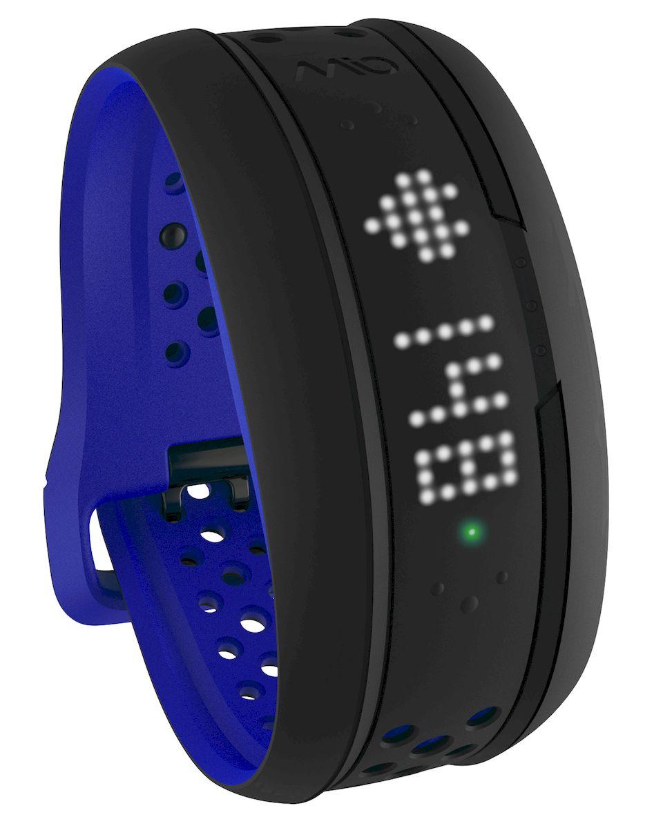 Mio Global Фитнес-трекер Mio FUSE Cobalt Large, цвет: черный, синий 59P-LRG-BLU