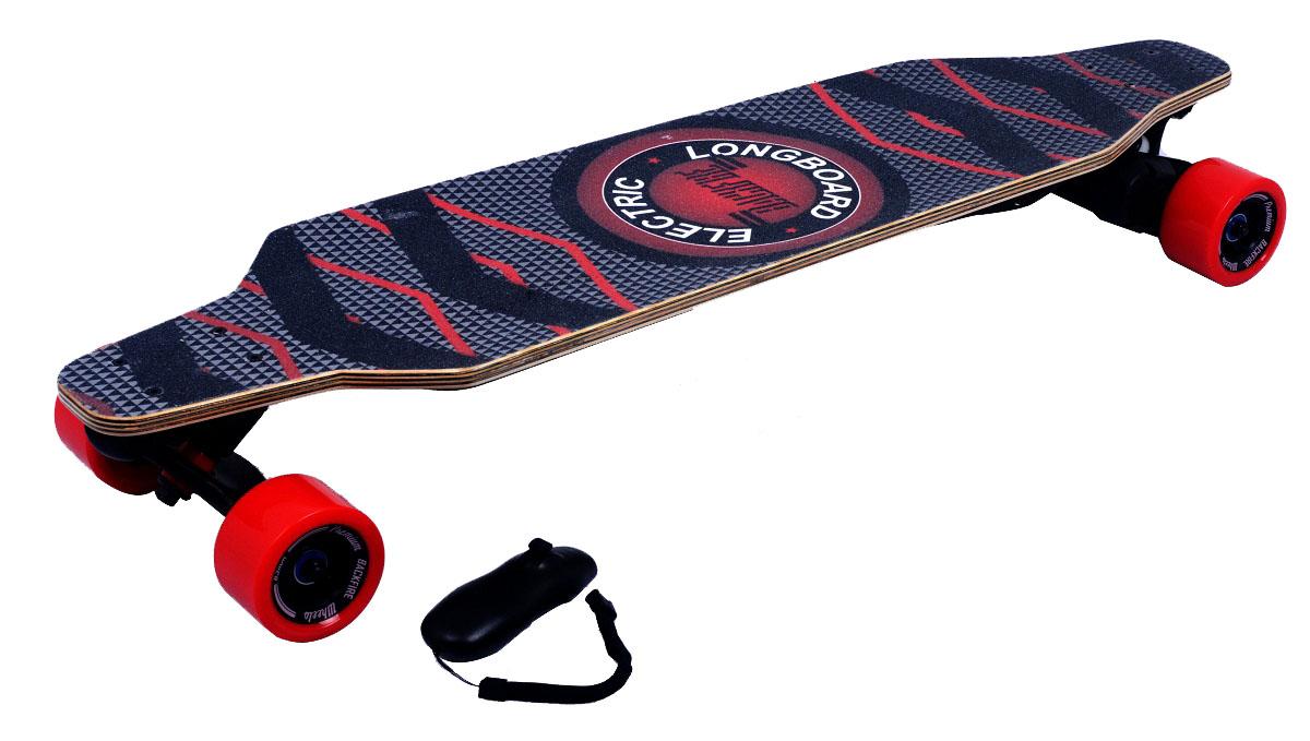 Электроскейт Backfire с рекуперативной системой торможения и bluetooth джойстиком, цвет: красныйBF0001Электроскейты Backfire - это новейшее поколение электроскейтов - катайся быстрее и круче! Впечатления от движения на электрическом скейтборде Backfire как от серфинга, сноубординга, вейкбординга. На работу, учебу, тусовки — куда и когда угодно! Уникальный мотор 1200 Ватт - мощнейший в своем классе! Превосходит по мощи другие популярные модели электроскейтов до 4х раз. Обеспечивает плавность и динамику движения при интенсивных маневрах; Даже при подъеме в горку до 30 градусов. Спроектирован в соответствии с требованиями PRO-райдеров. Рекуперативная система торможения - дополнительная зарядка аккумулятора во время движения. Интуитивное управление с Bluetooth-джойстика. 2 режима скорости: Ручной до 32км/ч и круиз-контроль -специально для дальних дистанций. Регулировка скорости: Удобное ускорение и торможение трек-колесиком. 100% концентрация на езде. Не отвлекаясь на технику. Уникальная запатентованная подвеска ZeroGravity из высокопрочной стали ABEC-11.