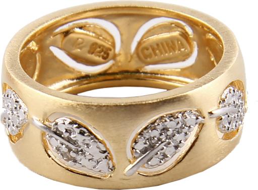 Кольцо Листочки. Белый металл, позолота. КНР, 2000-е гг.k4903000Кольцо Листочки. Белый металл, позолота. КНР, 2010 год. Размер кольца 16,5. Сохранность очень хорошая. Кольцо без коробочки!