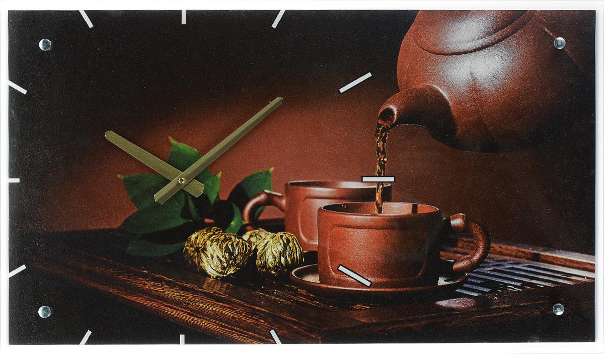 Часы настенные Proffi Home Зеленый чай, 35 х 60 смВ865Настенные кварцевые часы Proffi Home Зеленый чай, изготовленные из ДВП и стекла, прекрасно подойдут под интерьер вашего дома. Прямоугольные часы имеют две стрелки: часовую и минутную. Размер часов: 35 х 60 см. Часы работают от 1 батарейки типа АА напряжением 1,5 В. Батарейка в комплект не входит.