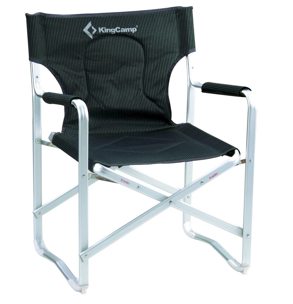 Кресло складное KingCamp DIRECTOR DELUX KC3811, цвет: черно-серыйУТ-000049511DELUXE DIRECTOR CHAIR Кресло складное с подлокотниками с алюминиевой рамой Артикул KС3811 Размеры: ширина 63 см (сиденье 54 см) глубина 53 см высота 84 см (сиденье 43 см) Упаковка: 85 х 25 х 14 см Вес: 3,5 кг Каркас: алюминий Ткань: полиэстер 1200D Oxford PVC