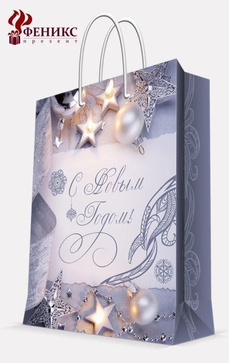 Пакет подарочный Magic Time Блеск серебра, цвет: серый, 17, 8 х 22,9 х 9,8 см38535Бумажный пакет БЛЕСК СЕРЕБРА XS (17.8*22.9*9.8см, для сувенирной продукции, с ламинацией, с шириной основания 17.8 см, плотность бумаги 140 г/м2)