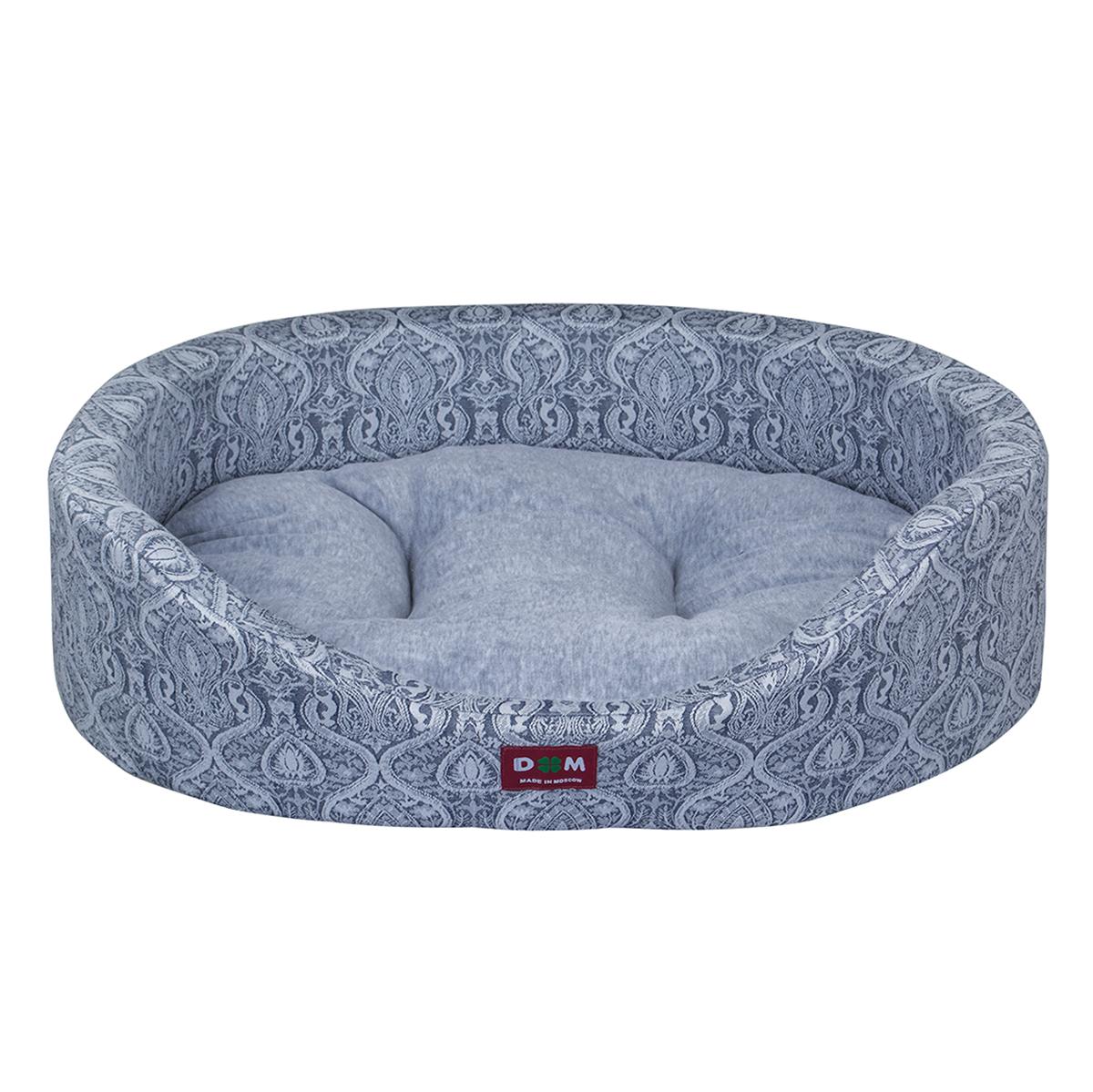 Лежак для животных Dogmoda Дуэт, цвет: серо-голубой, 60 x 48 x 12 смDM-160278-2Лежак для животных Dogmoda Дуэт прекрасно подойдет для отдыха вашего домашнего питомца. Предназначен для собак мелких и средних пород и кошек. Изделие выполнено из жаккарда с изысканным узором, внутри - мягкий наполнитель из поролона, который обеспечивает комфорт и уют. Лежак снабжен съемной велюровой подушкой с холлофайбером внутри. Изделие имеет высокие бортики. Комфортный и уютный лежак обязательно понравится вашему питомцу, животное сможет там отдохнуть и выспаться. Высокий уровень комфорта, спокойный благородный цвет и мягкость сделают этот лежак любимым местом отдыха вашего питомца.