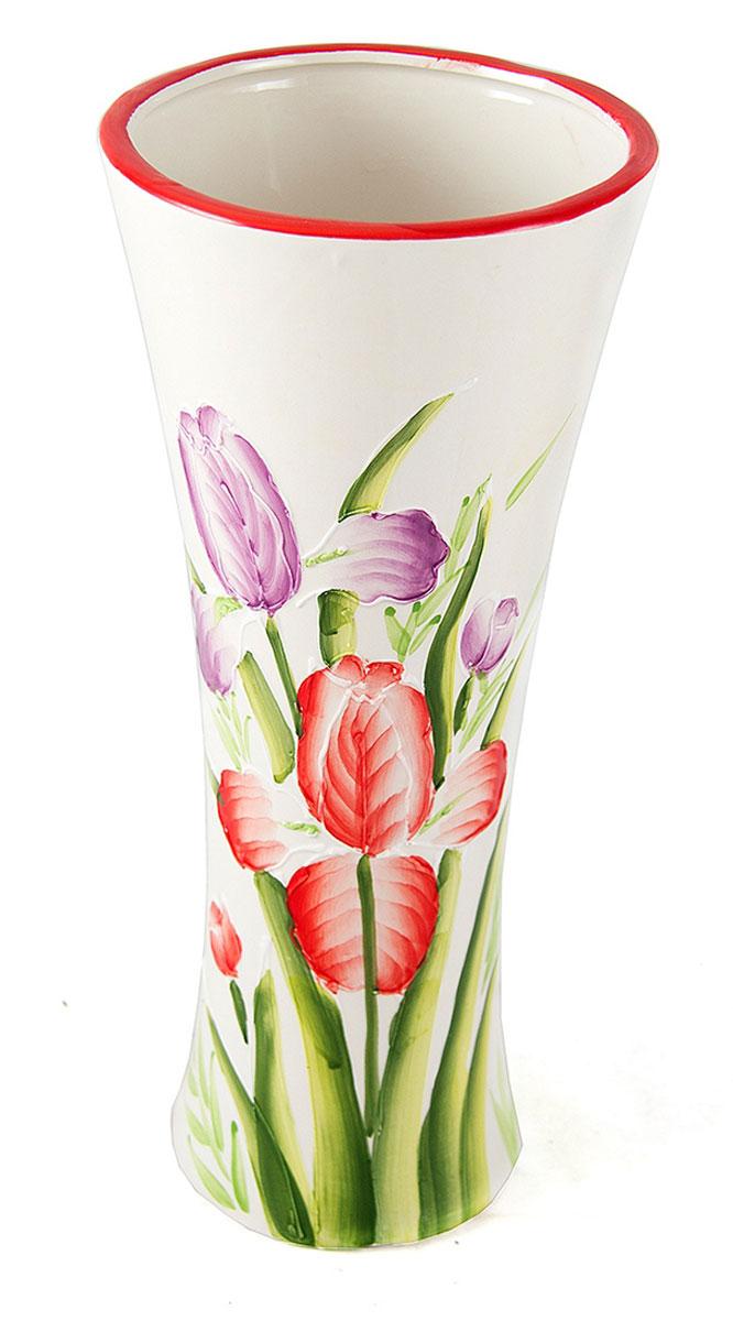 Ваза Русские Подарки, высота 30 см. 214550214550Ваза Русские Подарки, выполненная из керамики, украсит интерьер вашего дома или офиса. Оригинальный дизайн и красочное исполнение создадут праздничное настроение. Такая ваза подойдет и для цветов, и для декора интерьера. Кроме того - это отличный вариант подарка для ваших близких и друзей. Правила ухода: регулярно вытирать пыль сухой, мягкой тканью. Размер вазы: 13 х 13 х 30 см.