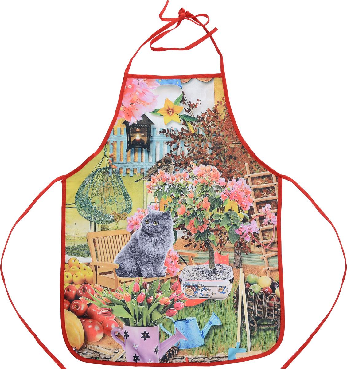 Фартук Bonita Котофей, 55 х 73 см1101211745Фартук Bonita Котофей изготовлен из прочного полиэстера и декорирован красивым изображением кота в саду, которое понравится любой хозяйке. Фартук оснащен завязками. Имеет универсальный размер. Такой фартук поможет вам избежать попадания еды на одежду во время приготовления пищи. Кухня - это сердце дома, где вся семья собирается вместе. Она бережно хранит и поддерживает жизнь домашнего очага, который нас согревает. Именно поэтому так важно создать здесь атмосферу, которая не только возбудит аппетит, но и наполнит жизненной энергией. С текстилем Bonita открывается возможность не только каждый день дарить кухне новый облик, но и создавать настоящие кулинарные шедевры. Bonita станет незаменимым помощником и идейным вдохновителем, создающим вкусное настроение на вашей кухне.