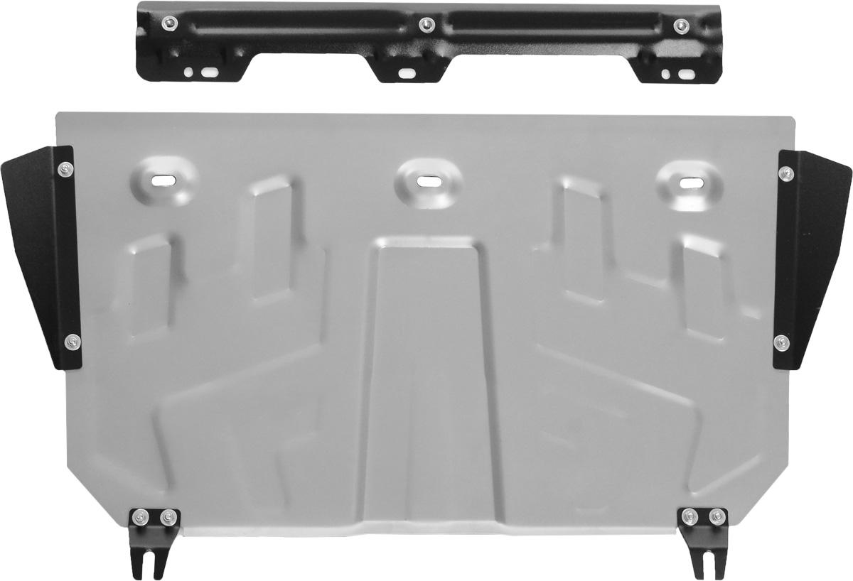 Защита картера и КПП Rival, для Mazda 3/6/CX-5333.3823.1Защита картера и КПП для Mazda 3 , V - 1,5, 1,6, 2,0 2013-; Mazda 6 , V - 2,0, 2,5 2012-2015 2015-; Mazda CX-5 , V - 2,0, 2,5 2011-2015 2015-, крепеж в комплекте, алюминий 3 мм, Rival. Надежно защищают днище вашего автомобиля от повреждений, например при наезде на бордюры, а также выполняют эстетическую функцию при установке на высокие автомобили. - Толщина алюминиевых защит в 2 раза толще стальных, а вес при этом меньше до 30%. - Отлично отводит тепло от двигателя своей поверхностью, что спасает двигатель от перегрева в летний период или при высоких нагрузках. - В отличие от стальных, алюминиевые защиты не поддаются коррозии, что гарантирует срок службы защит более 5 лет. - Покрываются порошковой краской, что надолго сохраняет первоначальный вид новой защиты и защищает от гальванической коррозии. - Глубокий штамп дополнительно усиливает конструкцию защиты. - Подштамповка в местах крепления защищает крепеж от срезания....