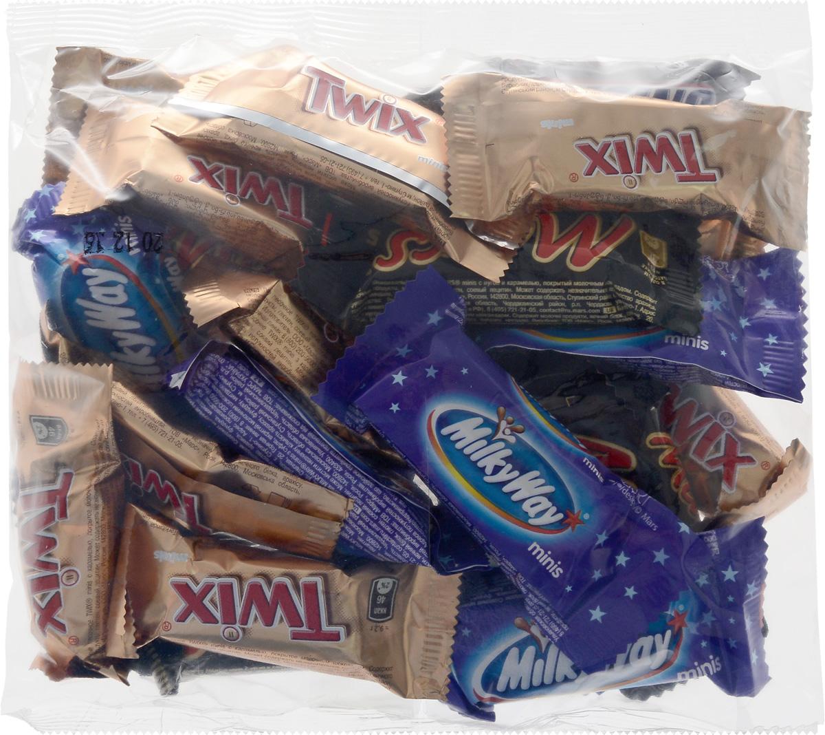 Mars Ассорти minis шоколадный батончик, 250 г79015006Милки Вей Минис - это конфеты, состоящие из нуги, которая намного легче молока. Молочный шоколад, которым покрыт Милки Вей, делает вкус конфет незабываемо нежным. Порадуйте юных сладкоежек, купите им Милки Вей, а они обязательно с вами поделятся.