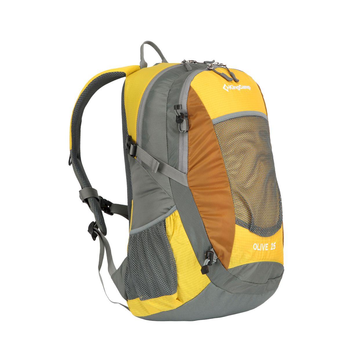 Рюкзак городской KingCamp OLIVE, цвет желтый. 25лRivaCase 8460 blackOLIVE 25л рюкзак Для города, прогулок, путешествий.Артикул KB3307Объем: 25 литровРазмеры: 48 х 27 х 17 смВес: 700 граммМатериал: нейлон 330D+210D RipStop с PU покрытием, полиэстерОсобенности: одно отделение, водонепроницаемая ткань, система вентиляции спины V.U.S., карман для ноутбука, боковые карманы, крепеж для инструмента, органайзер, накидка от дождя.