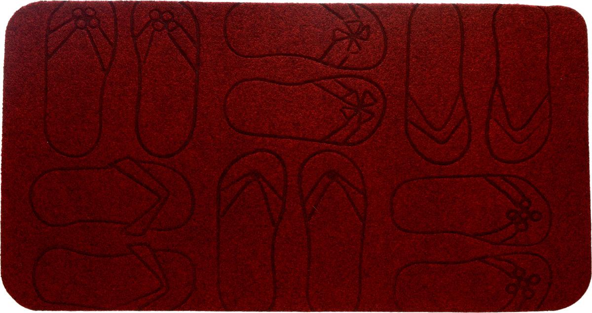 Коврик придверный EFCO Оскар. Сланцы, цвет: красный, 70 х 40 см13130/кр/оскар/следыОригинальный придверный коврик EFCO Оскар. Сланцы надежно защитит помещение от уличной пыли и грязи. Изделие выполнено из 100% полипропилена, основа - латекс. Такой коврик сохранит привлекательный внешний вид на долгое время, а благодаря латексной основе, он легко чистится и моется.