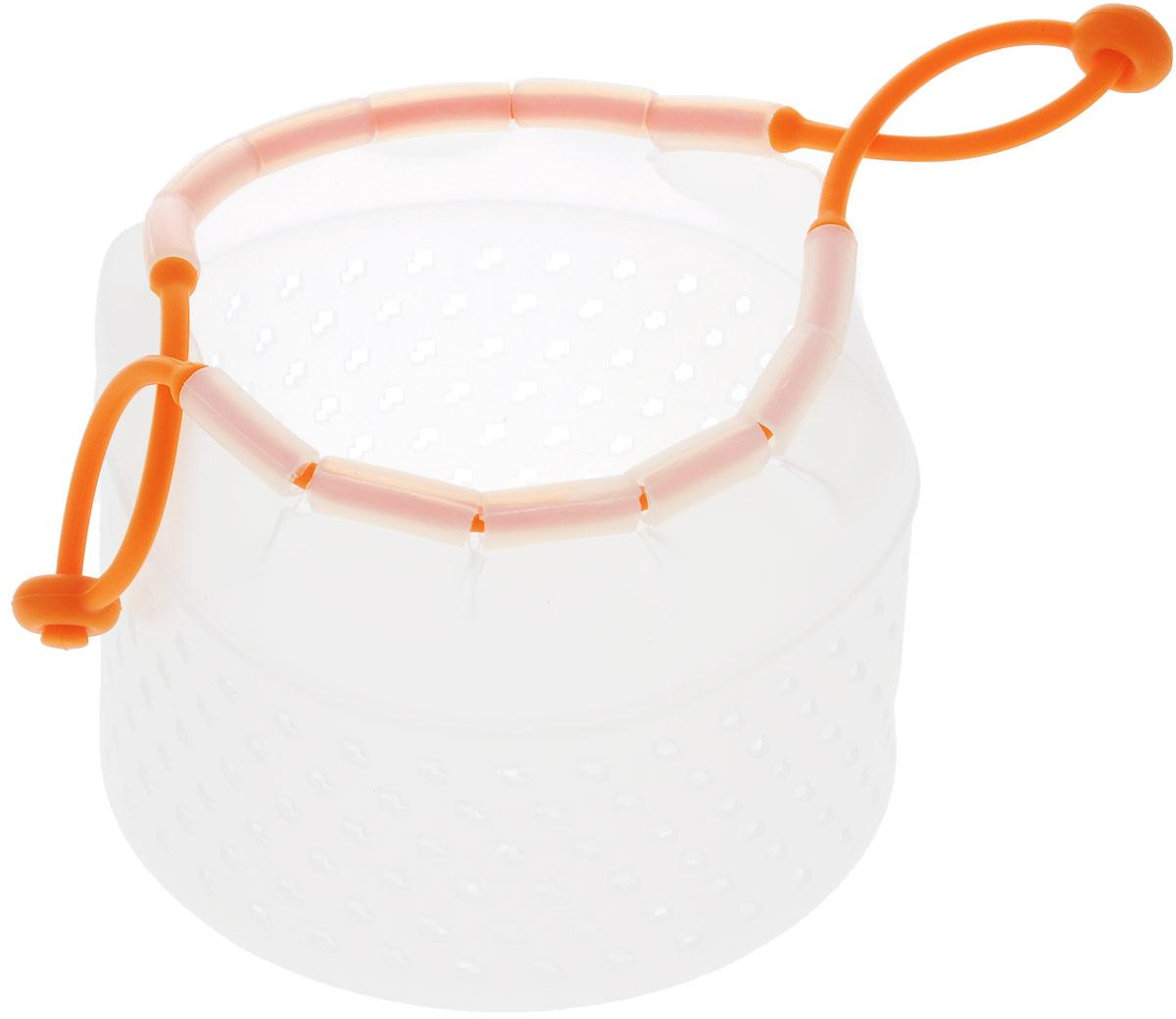 Мешочек для варки и бланширования Mayer & Boch, силиконовый, цвет: оранжевый, 16 х 16 х 12 см24619_оранжевыйМешочек для варки и бланширования Mayer & Boch, полностью сделанный из силикона, бланширует продукты, максимально сохраняя их питательные вещества, благодаря моментальному обвариванию. Бланширование позволяет создать на продуктах защитную пленку, для того, чтобы сохранить их вкус и питательные вещества. Отличный результат дает бланширование мяса, овощей и фруктов. Ранее для термической обработки продуктов требовалось иметь под рукой множество различных приспособлений, а сам процесс был небезопасным. Теперь, с появлением удобных и безопасных изделий из уникального материала - силикона - можно добиться отличного результата, не подвергая себя опасности получить термический ожог. Особенность мешочка для бланширования состоит не только в материале, но и специальной конструкции, которая позволяет одновременно приготовить сразу несколько продуктов. Мешочек со сквозными отверстиями затягивается силиконовой лентой со специальным креплением, благодаря которым...