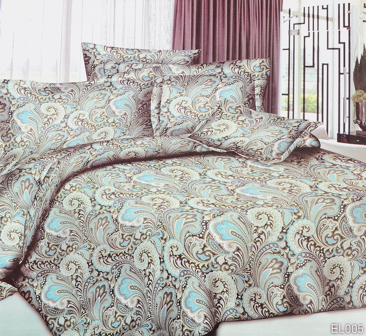 Комплект белья ЭГО Шик, 1,5-спальный, наволочки 70x70S03301004Комплект белья ЭГО Шик выполнен из полисатина (50% хлопка, 50% полиэстера). Комплект состоит из пододеяльника, простыни и двух наволочек. Постельное белье имеет изысканный внешний вид и яркую цветовую гамму. Гладкая структура делает ткань приятной на ощупь, мягкой и нежной, при этом она прочная и хорошо сохраняет форму. Ткань легко гладится, не линяет и не садится. Приобретая комплект постельного белья ЭГО Шик, вы можете быть уверенны в том, что покупка доставит вам и вашим близким удовольствие и подарит максимальный комфорт.