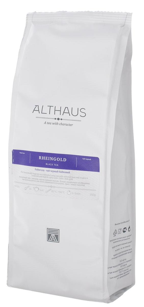 Althaus Rheingold черный листовой чай, 250 г101246Althaus Rheingold — необыкновенно ароматный черный чай из Индонезии. Для этого выдающегося купажа используются только специально отобранные чаи с острова Ява. По своим отличительным особенностям — изысканности, полноте букета и освежающему эффекту — Райнголд напоминает лучшие сорта цейлонского чая.Однако некоторые гурманы находят букет чая, собранного на Яве в самый благоприятный сезон с августа по сентябрь, даже более интересным и выразительным, чем у сортов с острова Шри-Ланка. В нем лучше различимы фруктовые оттенки, меньше проявляется вяжущая терпкость, раскрывается нежный солодовый аромат.Красивый темно-золотистый настой Райнголд обладает ярким сладко-фруктовым ароматом с приятной печеной нотой и мягким, слегка терпким вкусом с гармоничным сладковатым послевкусием. Тонкая танинная горчинка завершает благородную композицию этого чая.Оптимальная температура заваривания: 95°С. Температура воды: 85-100 °СВремя заваривания: 3-5 мин Цвет в чашке: темно-золотой