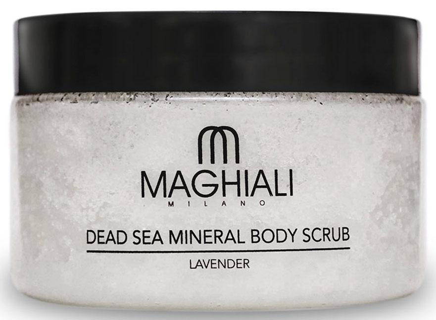 Maghiali Скраб для тела Dead sea Mineral, лаванда, 250 млFS-00897Содержит 100% соль Мертвого моря, обогощенную 27 витаминами и минералами Мертвого моря, а также кунжутное масло и масло семян жожоба, которые обеспечивают продолжительное увлажнение кожи. Скраб позволяет устранить омертвевшие клетки и загрязнения, скопившиеся в порах кожи, делая ее гладкой и приятной на ощупь. Особенно рекомендуется для придания мягкости ступням.