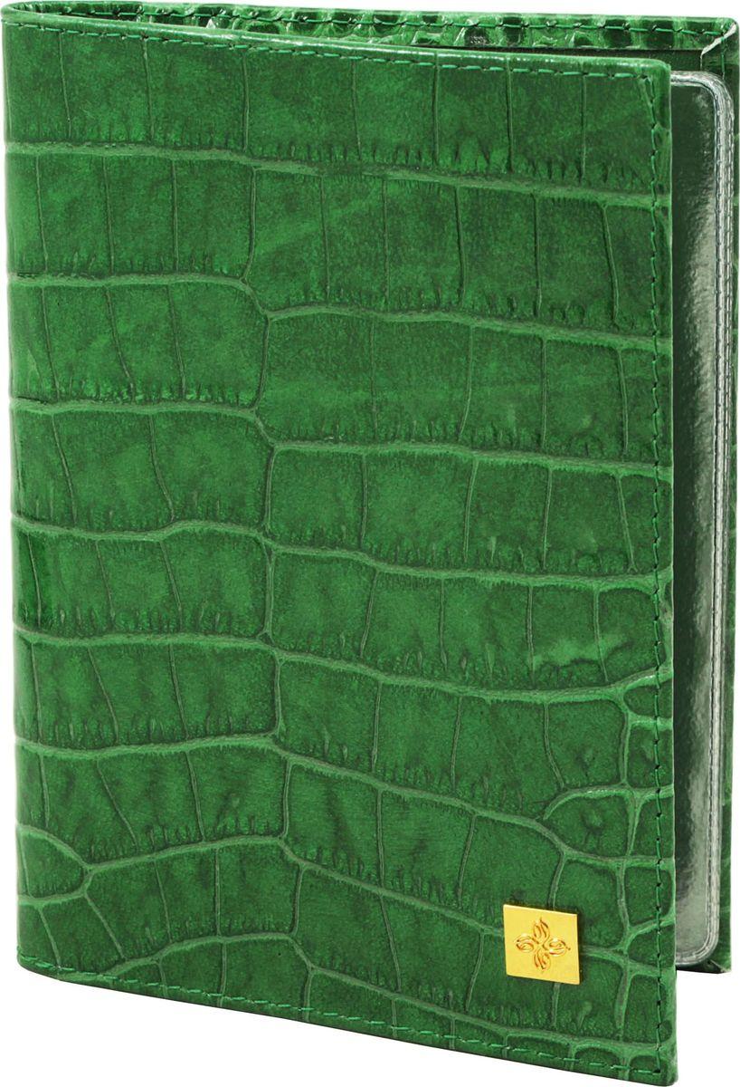 Обложка для автодокументов женская Dimanche, цвет: зеленый. 119119_зеленыйОбложка для автодокументов Dimanche выполнена из натуральной кожи и оформлена тиснением под рептилию. Внутри расположено 4 кармана для банковских и дисконтных карт, один карман для SIM-карты и два вертикальных кармана. Также внутри расположен пластиковый блок с файлами для автодокументов.